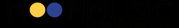 Logo moonmusic RGB nero al vivo ombra